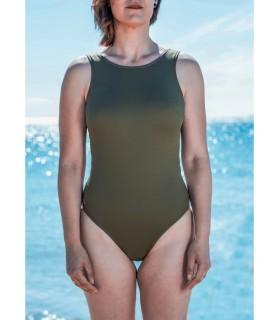 Bañador mastectomía KAKI top