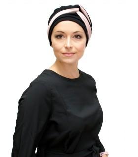 Gorro oncológico Kimmy Infinity Suburban Turban negro y nude