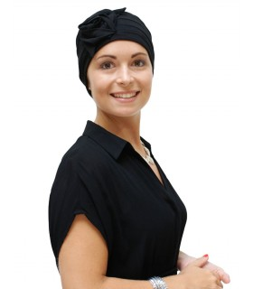 Gorro oncológico SELINA negro