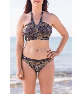 Bikini SERPIENTE en V mastectomía