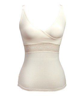 Camiseta mastectomía con bolsillos para prótesis externa de mama