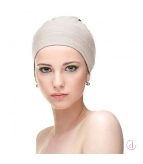 Gorro oncológico básico algodón Natalia beige