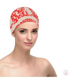 Gorro oncológico básico algodón Natalia Red