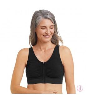 Sujetador EMILIA post mastectomía algodón negro