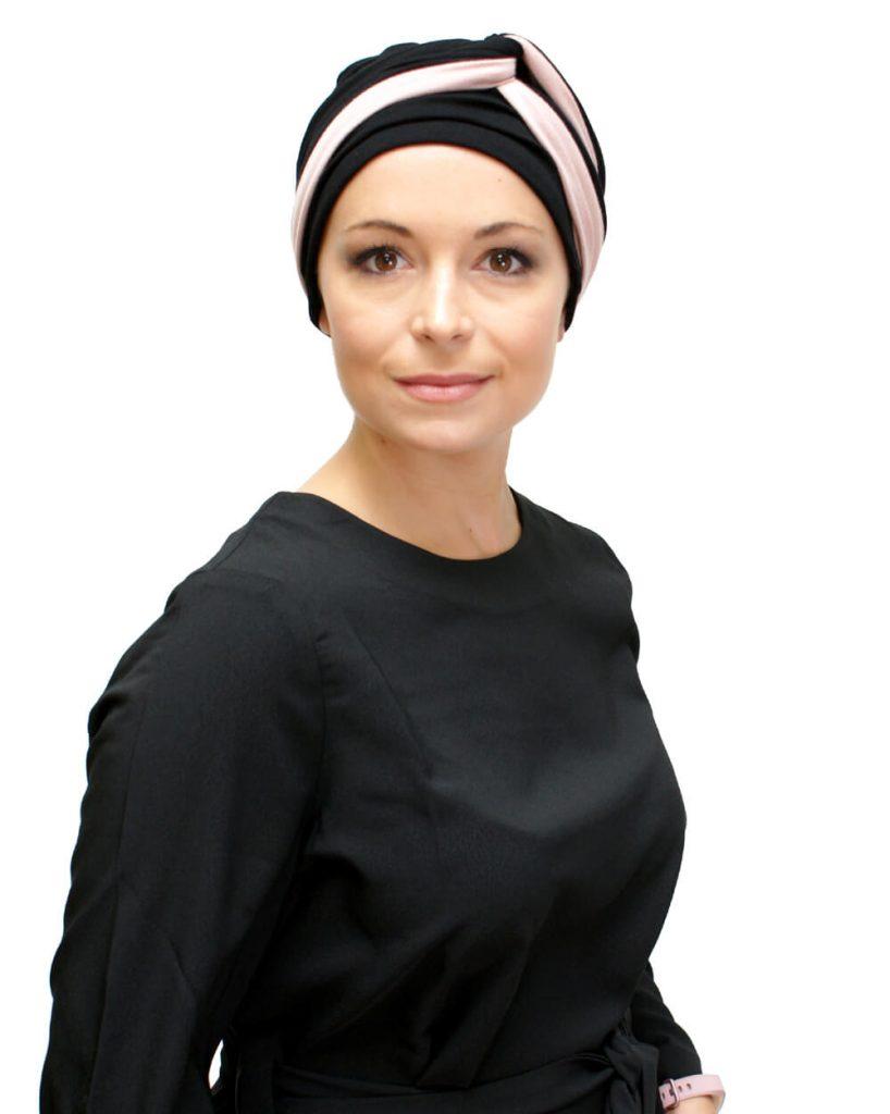 Gorro oncológico Kimmy Infinity con banda para quimioterapia