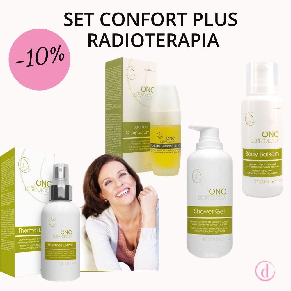 Set para el cuidado de la piel durante la radioterapia - productos naturales