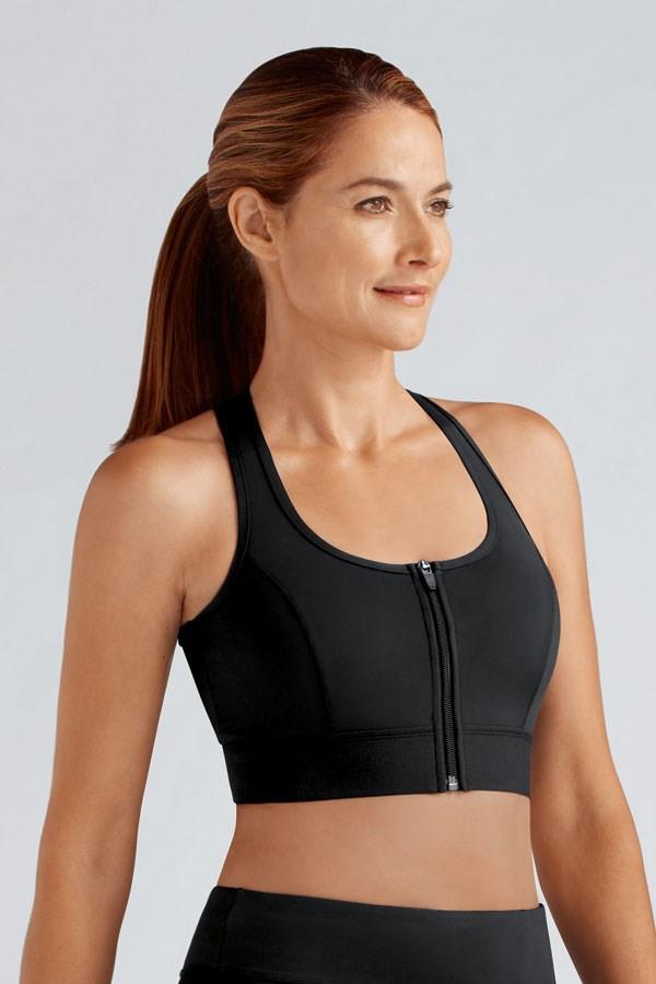 Sujetador deportivo para mastectomía Amoena Zipper