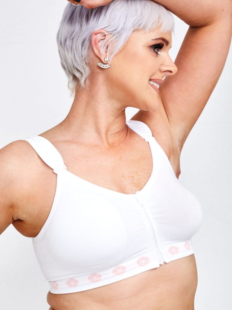 Tejido para tratamiento oncológico: sujetador Peony de bambú para mastectomía